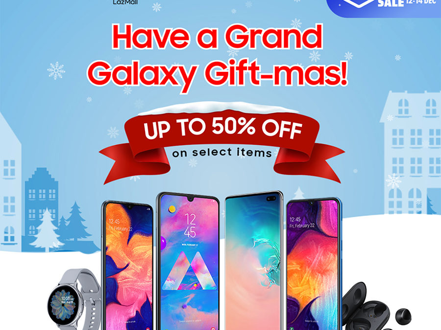 SAMSUNG unwraps deals up to 50% off and more for the  Lazada 12.12 Grand Year End Sale