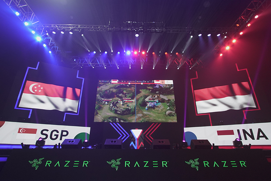 Singapore vs Indonesia for Mobile Legends Bang Bang at the SEA Games 2019