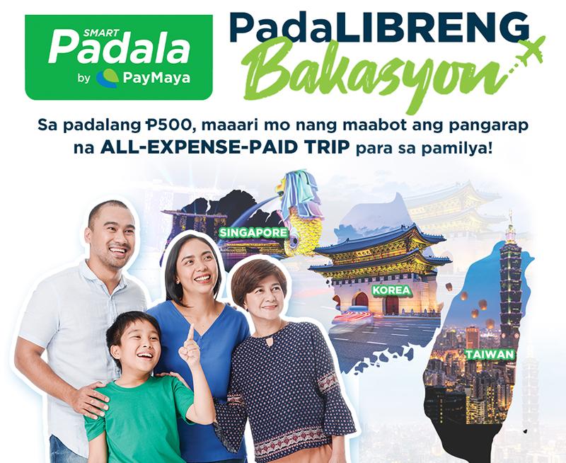 Smart Padala by PayMaya's 'Padalibreng Bakasyon' Promo – Get a chance to travel to Korea, Singapore, and Taiwan