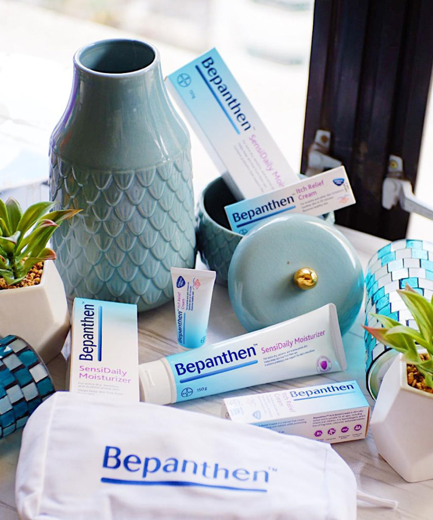 Bepanthen Itch Relief Cream and Bepanthen Sensidaily Moisturizer Help Calm and Care for Dry, Sensitive and Eczema-Prone Skin.