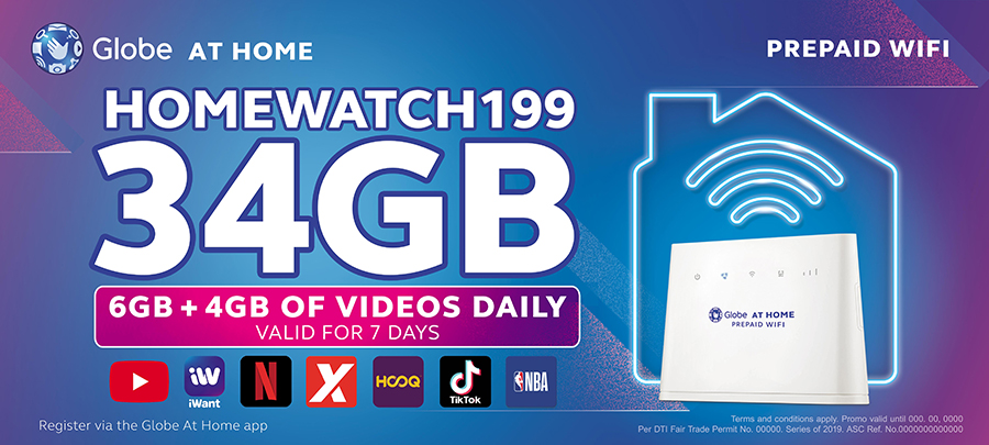 Globe At Home Prepaid WiFi introduces new data promos with FREE 4GB YouTube daily