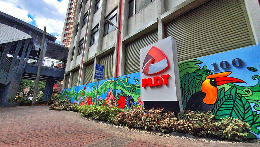 PLDT Transforms Makati Headquarters; Creates Mural on Environmental Stewardship