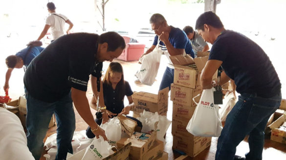 PLDT and Smart employees share blessings with Davao quake victims