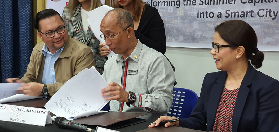 PLDT, Smart and Baguio City LGU also signed an agreement to expand Smart WiFi in Baguio City