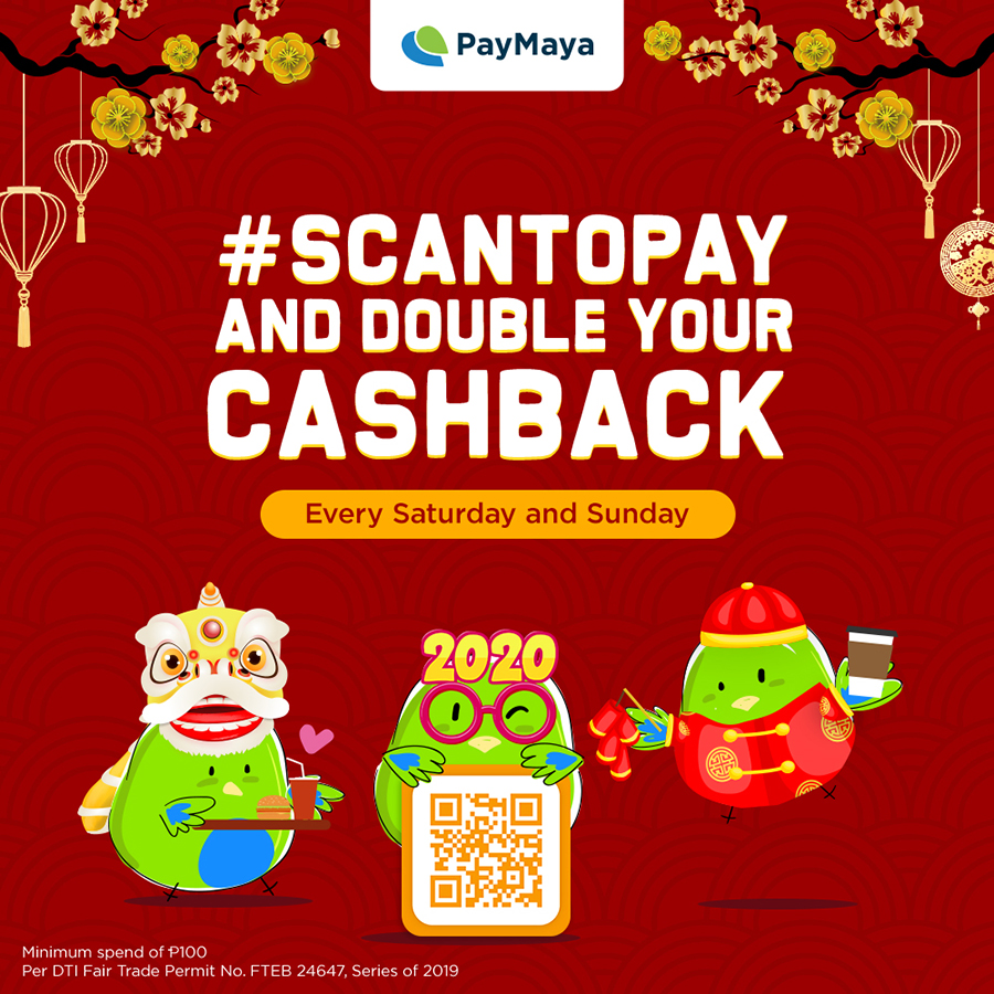 Get Lucky This Chinese New Year With PayMaya's Amazing Cashback Deals!