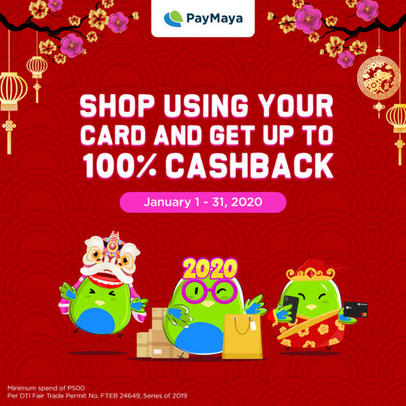 GetLuckyThis Chinese New Year With PayMaya's Amazing Cashback Deals!