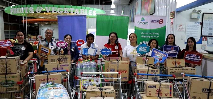 Smart Load Retailers Get Lucky in Biggest Grocery Hakot Challenge at Super8