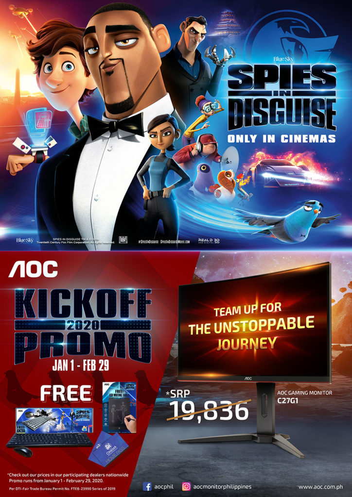 """Team up with AOC to escape into the world of comedic action in Twentieth Century Fox's """"Spies in Disguise"""""""