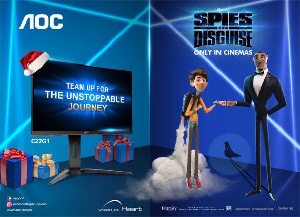 "Team up with AOC to escape into the world of comedic action in Twentieth Century Fox's ""Spies in Disguise"""