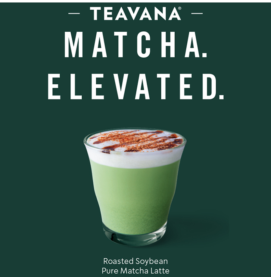 Teavana Roasted Soybean Pure Matcha Latte