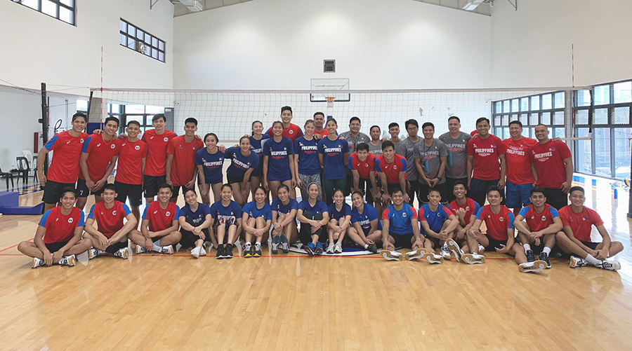 The PH men and womens volleyball team for the 30th SEA Games