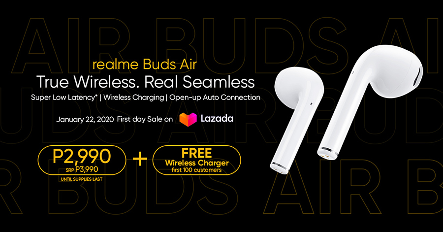 Realme Buds Air Introduces Best-Value True Wireless Sound Technology for only Php3,990