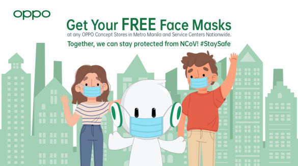 OPPO Partakes in Health and Safety Measures Against NCoV Outbreak by Giving Free Face Masks