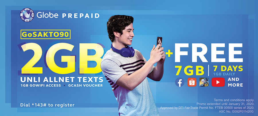 Globe Prepaid Gives Customers up to 10GB Boost With Bigger GoSAKTO and GoSURF Promos
