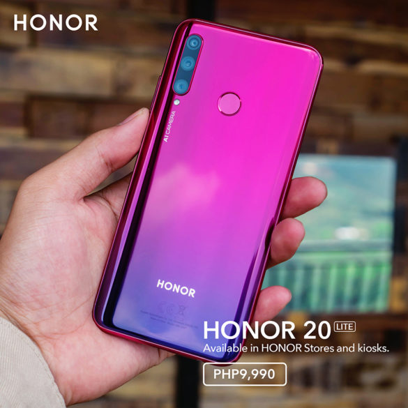 HONOR 20 Lite Now Available in Stores Nationwide
