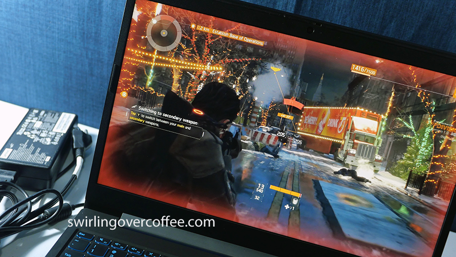 Lenovo L340 Gaming, with The Division being played