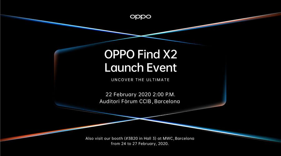 OPPO Officially Announces Global Launch of Cutting-Edge OPPO Find X2 at Upcoming MWC 2020