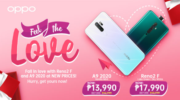 Feel The Love Even More This Valentine's With OPPO Reno2 F and A9 2020 Price Update