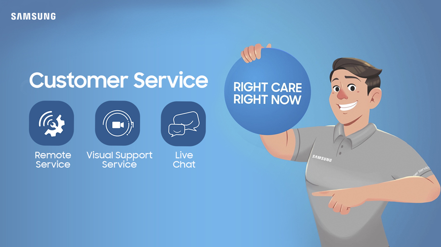 Right Care, Right Now: Samsung's Innovative Customer Service Is Always Ready When Needed
