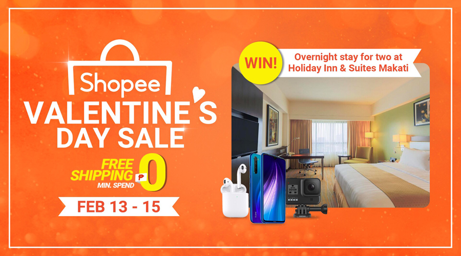 Shopee Celebrates Love this Valentine's Day with up to 90% Off Deals and a Staycation For Two