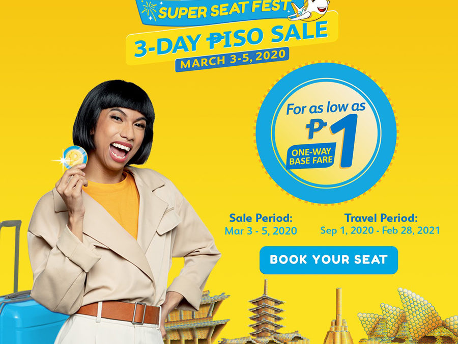 Cebu Pacific Opens Month-Long #CEBSuperSeatFest With Three-Day Piso Sale