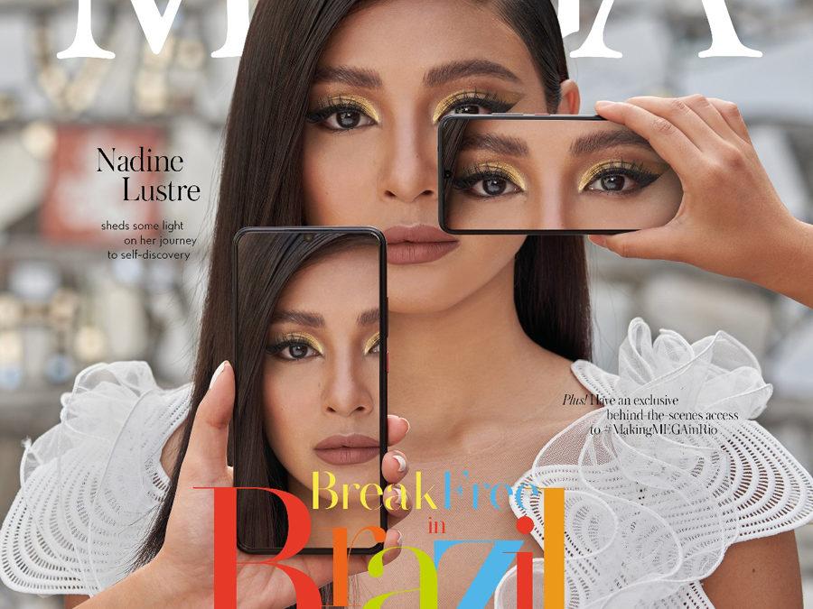 MEGA Magazine Featuring Nadine Lustre's Brazil Photos Now in Vivo Stores