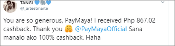 See HowThesePayMayaUsers GotMore Than p1,000 CashbackWhen They PaidLike Kathryn and Daniel!