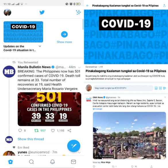 "Twitter Launches COVID-19 ""Event Page"" Feature in Philippines"