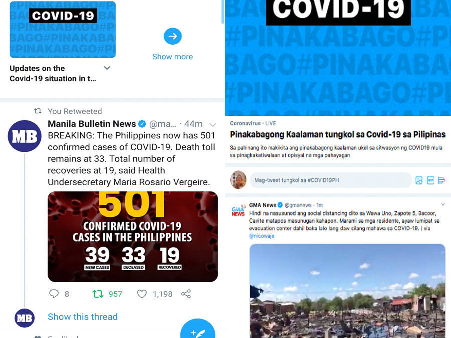 """Twitter Launches COVID-19 """"Event Page"""" Feature in Philippines"""