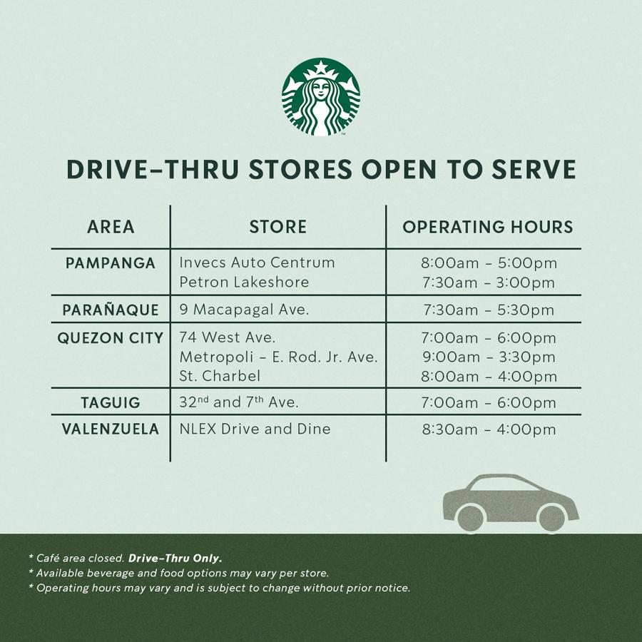 Starbucks Drive Thru Re-Opening