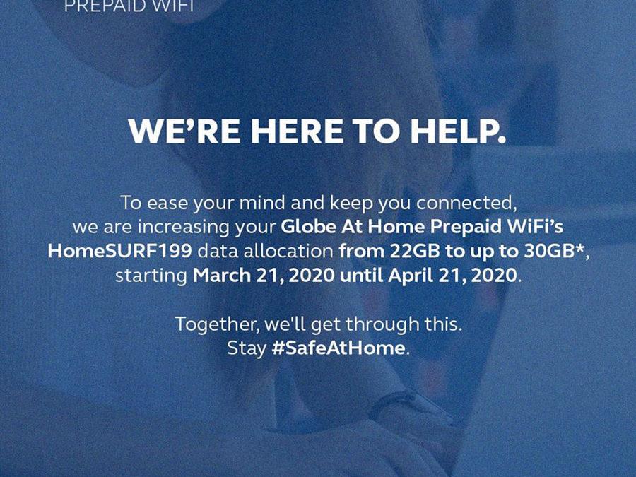 Globe Gives Data Boost With Globe at Home Prepaid WiFi's HOMESURF199