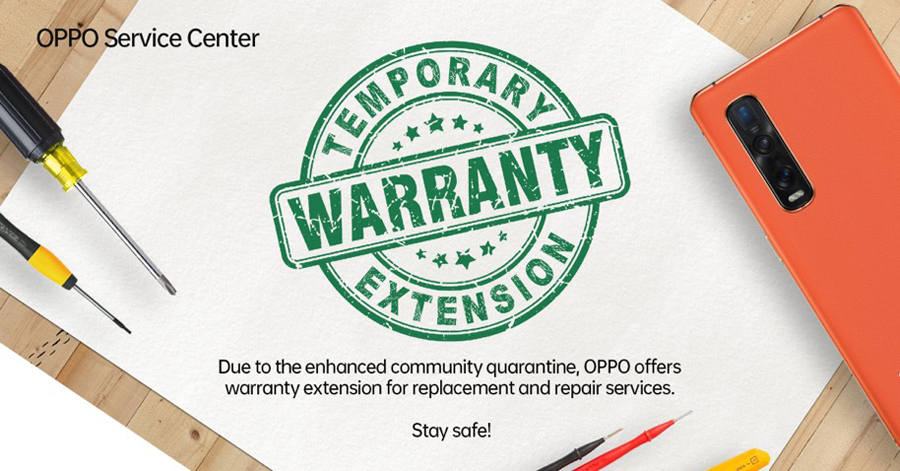 OPPO Implements Extended Terms and Service Warranty  Amidst COVID-19 Pandemic