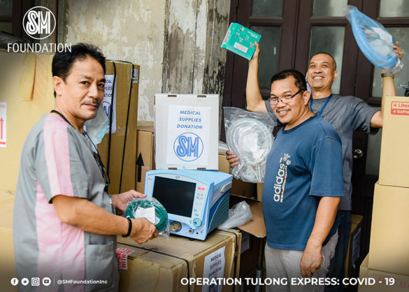 The SM Foundation delivered units of intensive care unit ventilator machines to the Philippine General Hospital (PGH) on March 27, 2020.