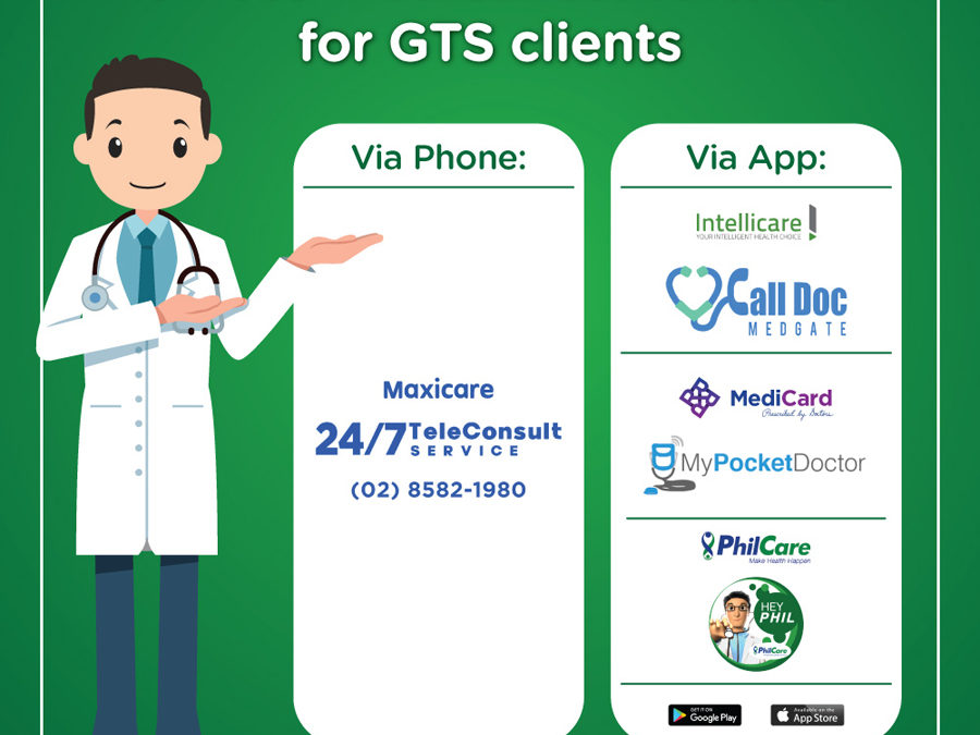24/7 Remote Medical Consultations Available for GTS HMO Clients