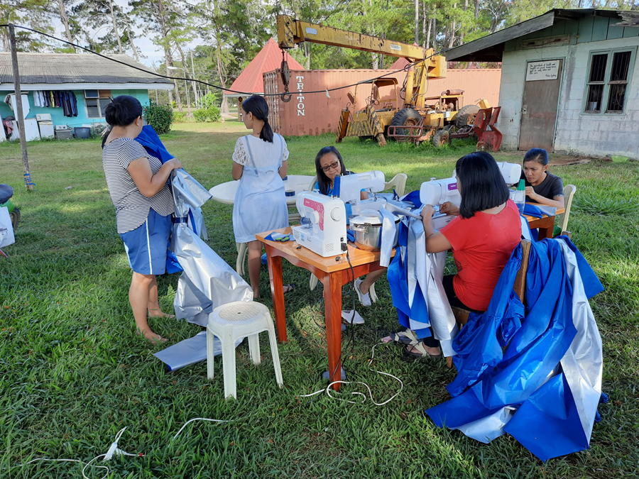 Resourceful Filipino Volunteer Uses Brother Sewing Machines to Produce PPEs for Frontliners