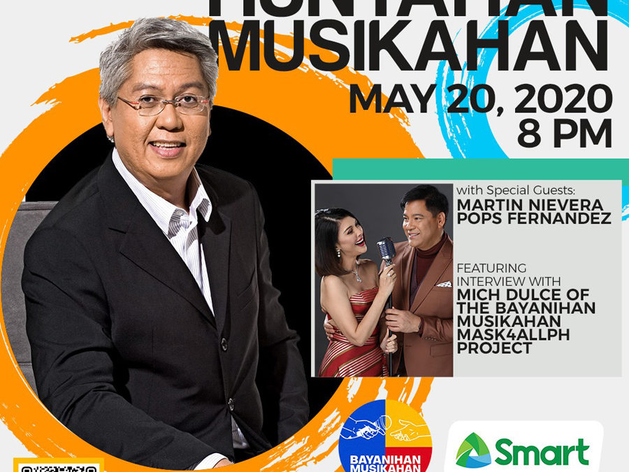 Smart Music Live Online Sessions Teams up With Bayanihan Musikahan to Bring Regine Velasquez, Ogie Alcasid, Ryan Cayabyab to Live Online Stage