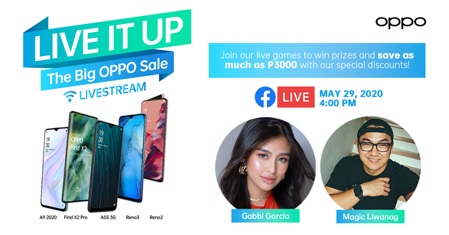 #LiveItUp More With Discounts and Cool Freebies On the Next ShOPPO Livestream With Gabbi Garcia and Magic Liwanag