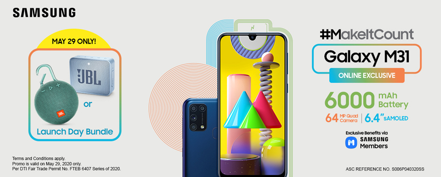 #MakeItCount with the New SAMSUNG Galaxy M31