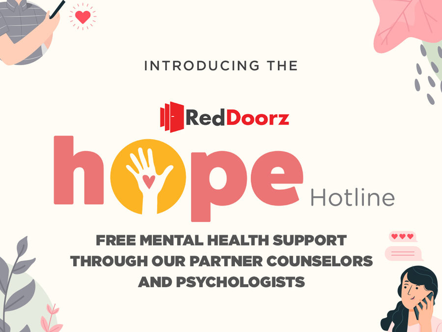 """RedDoorz Launches """"Hope Hotline"""":  A Mental Health Support Programme for Employees, Hotel Partners and Industry-at-Large"""