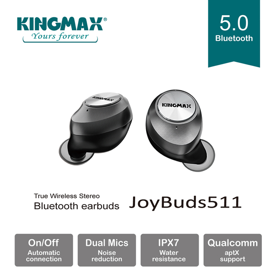 KINGMAX Launched TWS Bluetooth Earbuds JoyBuds511 With Dual Microphones and CVC Noise Reduction Technology