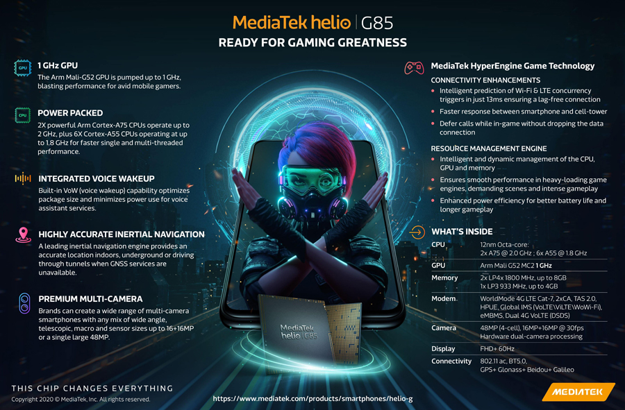 MediaTek Unveils Newest Addition to Gaming Chipset Series with Helio G85
