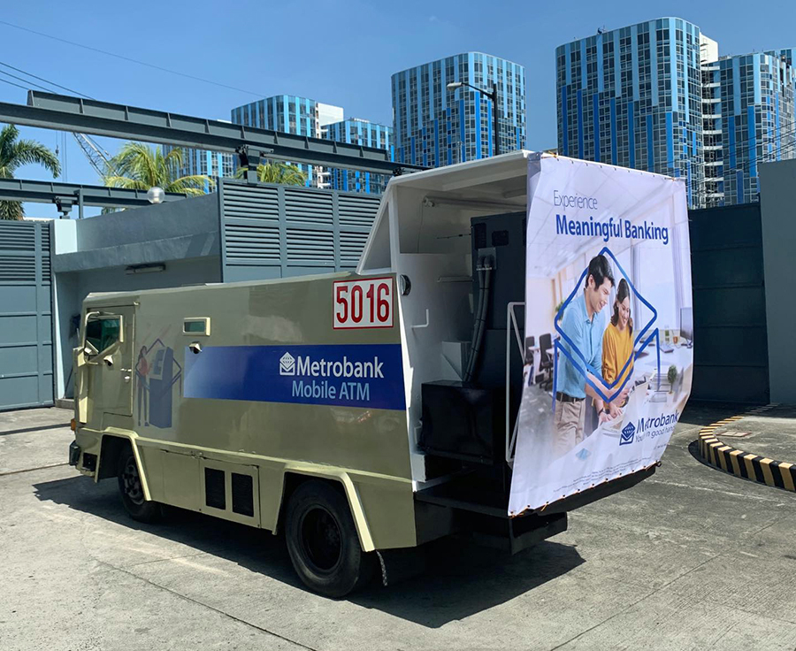 Metrobank brings meaningful banking closer to customers with the Metrobank Mobile ATMs.