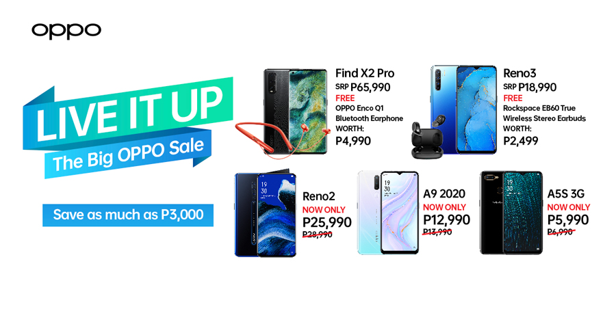 Save As Much As PHP3,000 and Live It Up With Your Fave OPPO!