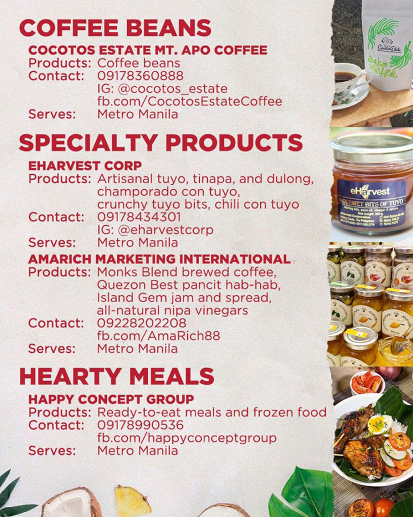 DOT and SSI Support Philippine Food Producers in Online Philippine Harvest