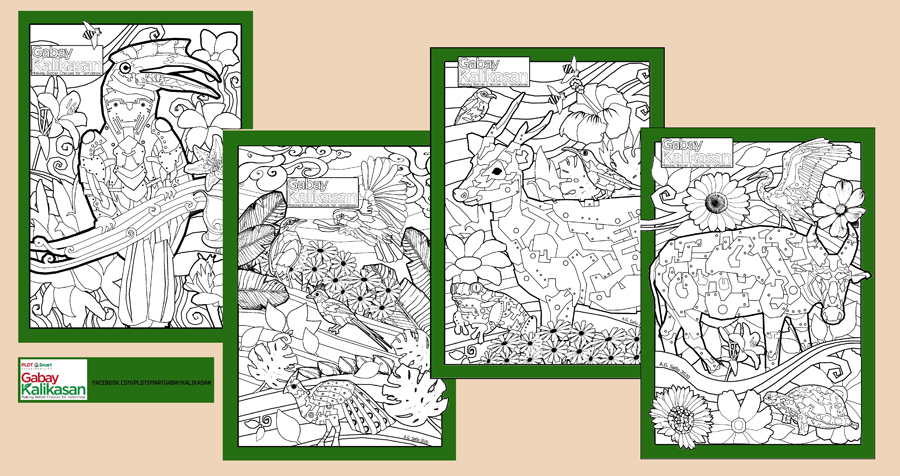 Stay Safe at Home and Show Some Love for Mother Earth With Free Downloadable Gabay Kalikasan Coloring Pages