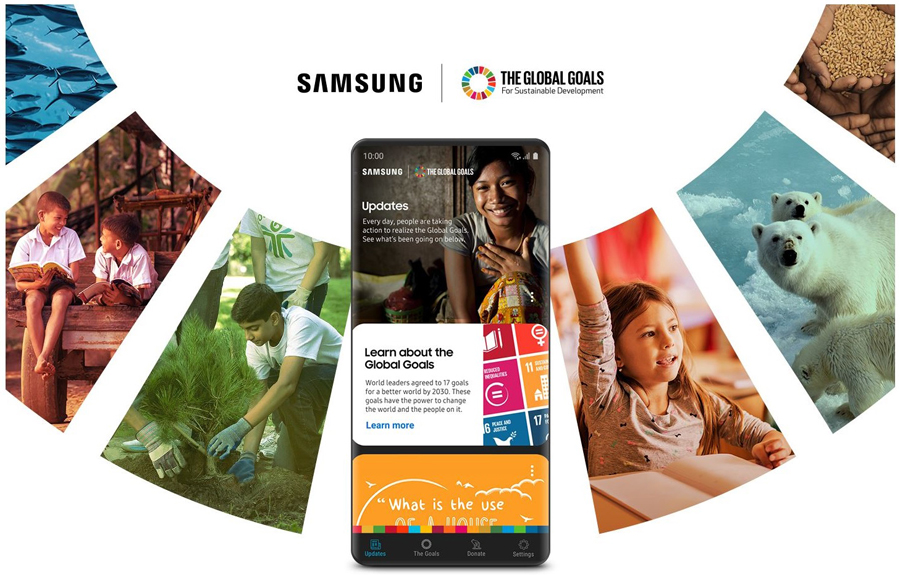 At Home with Galaxy: Taking Social Action with the Samsung Global Goals App
