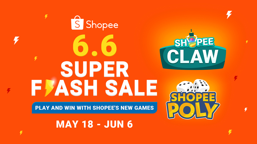 Play Hard & Win Big: Shopee 6.6 Super Flash Sale is Here with New In-App Games to Enjoy