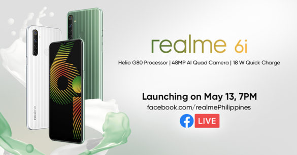 The realme 6i is the first smartphone in the world and in the Philippines to use the MediaTek gaming SoC launched just this February, the Helio G80