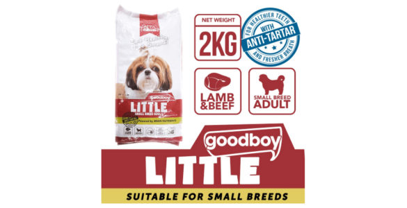 Good Boy Dog Food Little Variant for Small Breed Adult is available at Shopee for 15% off, that's a price cut from the normal P230 to only P195.