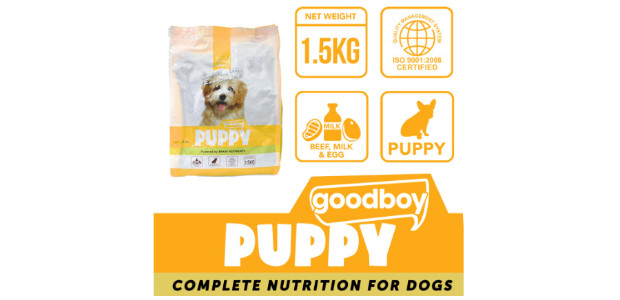 Good Boy Dog Food Puppy provides the nutrition puppies need, available at Shopee